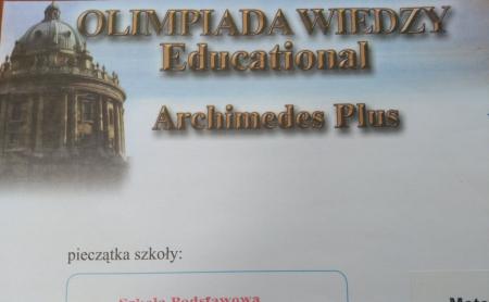 32 edycja ogólnopolskiego konkursu Olimpiada wiedzy - Archimedes Plus
