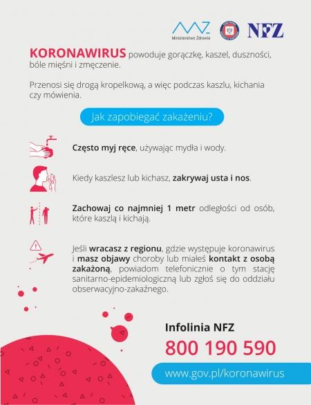 Kampania edukacyjna dedykowana KORONAWIRUSOWI