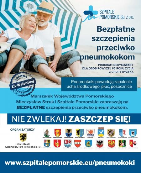 Szczepienia przeciwko pneumokokom dla osób 65+ z grupy ryzyka