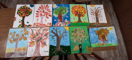 Szkolny konkurs plastyczny Jesienne Drzewo
